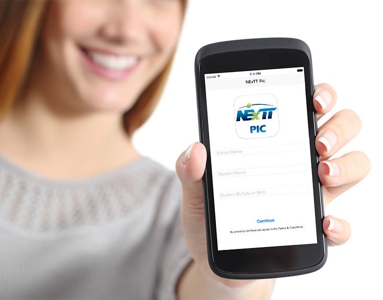 NExTT Pic Mobile App Screen